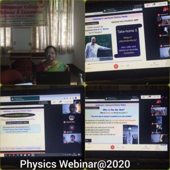 Physics Webinar on 9th and 10th July 2020